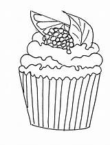 Cupcakes Coloring sketch template
