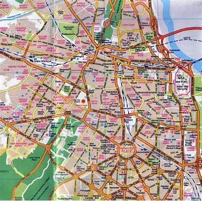 Delhi Map Central India Mapa Road Asia