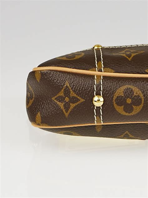 louis vuitton limited edition monogram canvas riveting pochette bag yoogis closet
