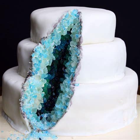 geode cake recipe geode cake fondant wedding cakes