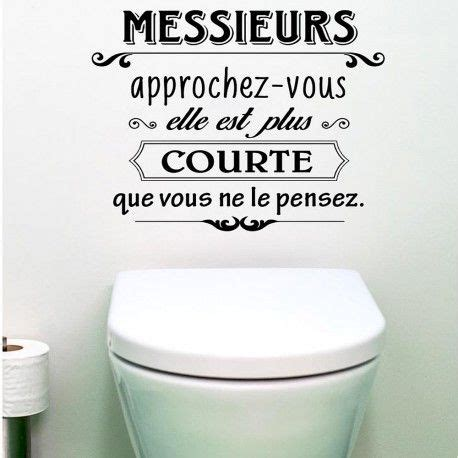 foto de Décoration WC : Sticker mural Messieurs approchez vous à 7