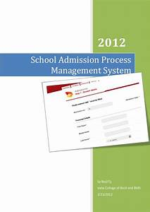 school admission process management system documention With document management system university