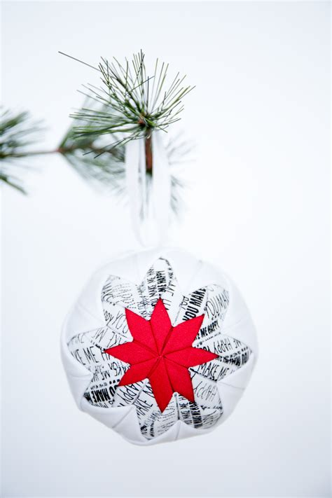 no sew quilted christmas ornament i heart nap time