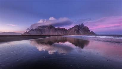 Clouds Mountain Coast Iceland 4k Uhd