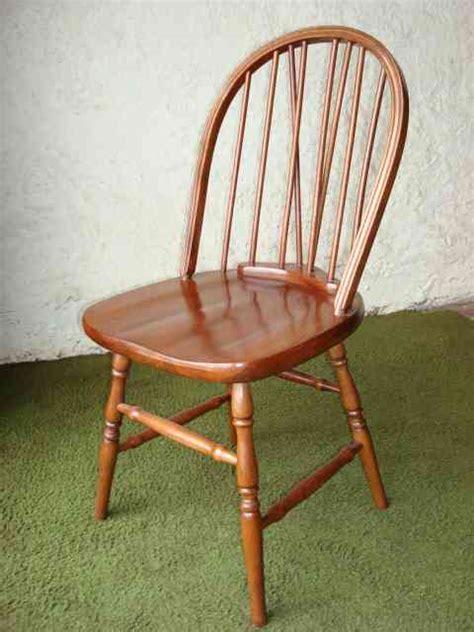 silla windsor en madera de guatambu asiento macizo
