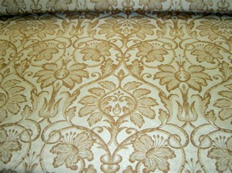 Fabric Store Remnant Silk Drapery Upholstery Damask Brown