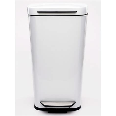 Oxo Kitchen Garbage Cans oxo steel kitchen trash can white in stainless steel