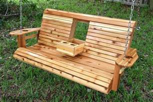 Pallet Patio Table Plans by Build A Wood Porch Swing With Cup Holders Diy Projects