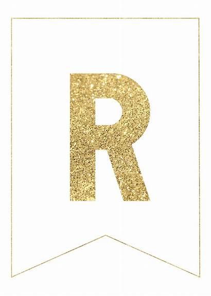 Banner Letters Gold Printable Ramadan Alphabet Decorations