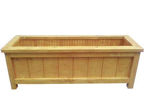 wooden garden planter length 60cm handmade brookside
