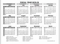 20182019 Fiscal Calendar UK Template Free Printable