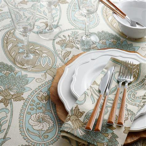 world market table linens blue floral paisley table linen collection world market