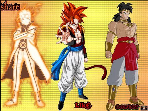 Naruto Vs Dragon Ball Z As Melhores Imagens