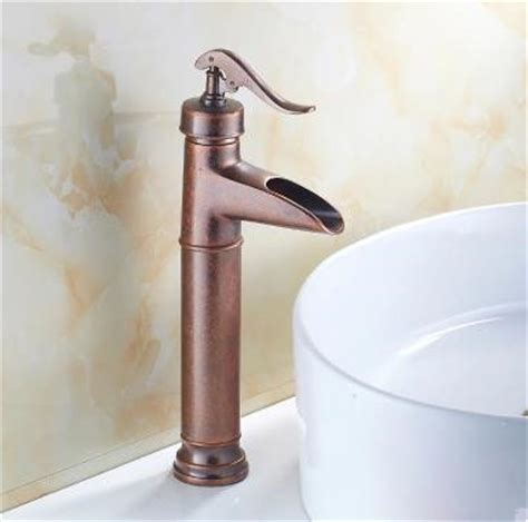 Brass Sink Taps Bathroom by Antique Brass Mixer Bathroom Sink Tap Two Handles Brown