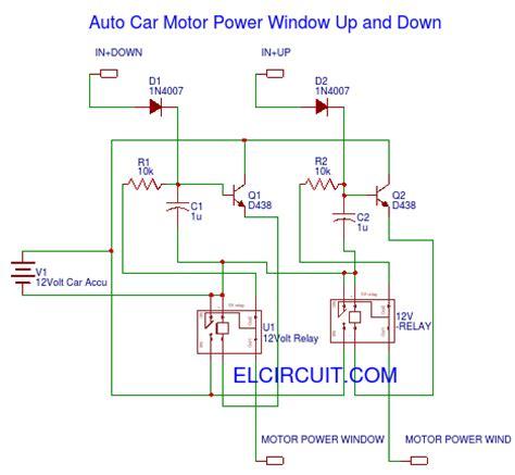 Auto Car Motor Power Window Circuit Electronic