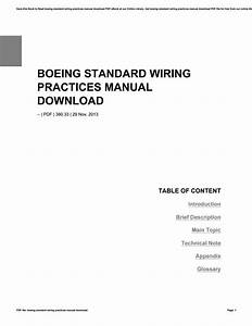 Boeing Standard Wiring Practices Manual Download By Lordsofts8