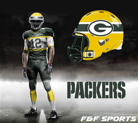 New NFL Uniforms Green Bay Packers
