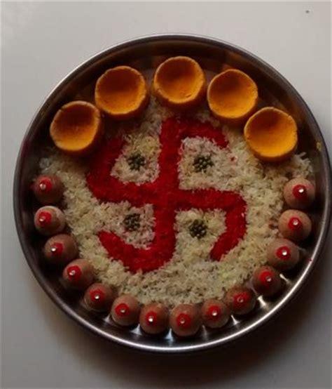 aarti thali decoration pooja room pooja thali