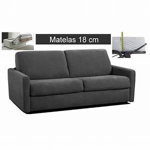 Canapé Convertible Matelas 20 Cm : canap convertible rapido microfibre matelas 18 cm prix ~ Teatrodelosmanantiales.com Idées de Décoration