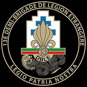 Insignia of the 13 DBLE. The 13th Foreign Legion Demi ...