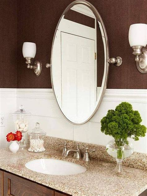 photo  oval bevelled mirrors