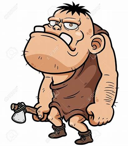 Caveman Cartoon Clipart Vector Neolithic Illustration Characters