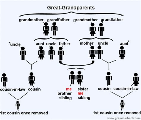family tree relationship names  english