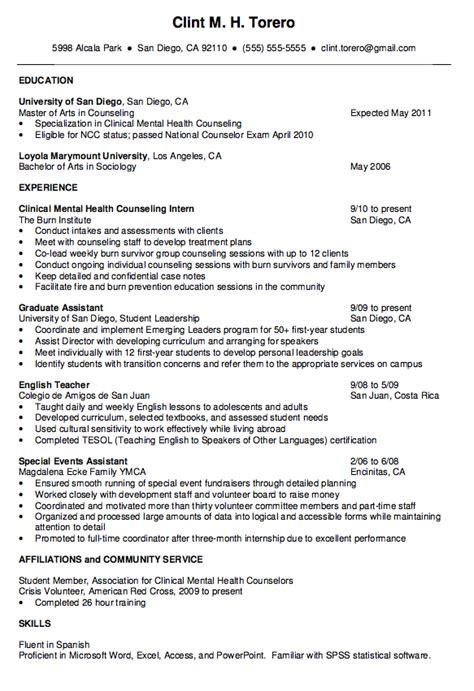 22099 guidance counselor resume mental health counselor resume http exleresumecv