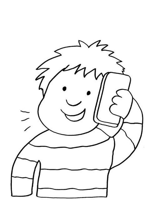 ausmalbild handy junge telefoniert kostenlos ausdrucken