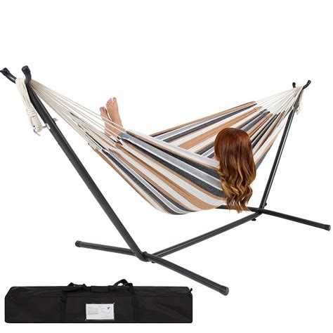 Portable Hammock With Stand  Fair Weather Relaxin' ⋆ Easy