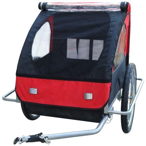 fahrradanhänger kinder günstig vidaxl kinder fahrradanh 228 nger rot 36 kg g 252 nstig kaufen