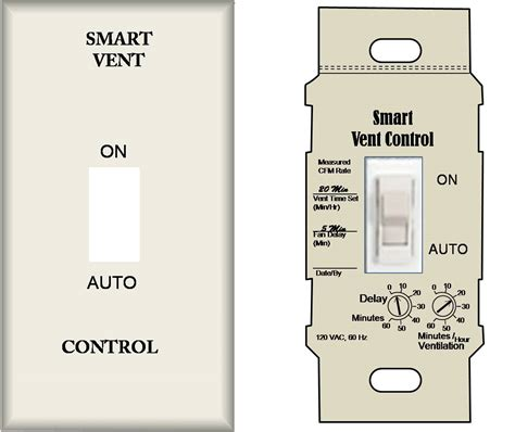 bathroom exhaust fan control switch continuously operating ventilation and exhaust fans