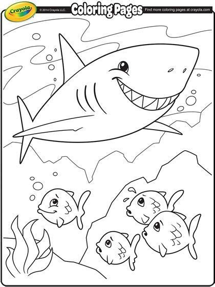 Kleurplaten Baby Shark kleurplaten van dieren