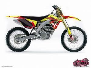 Moto Cross Suzuki : kit d co moto cross graff suzuki 125 rm kutvek kit graphik ~ Louise-bijoux.com Idées de Décoration