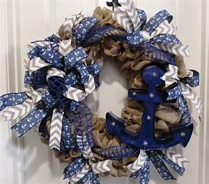 18 Lighted Wreath Lighted Burlap Nautical Wreath Home Decor Wreaths