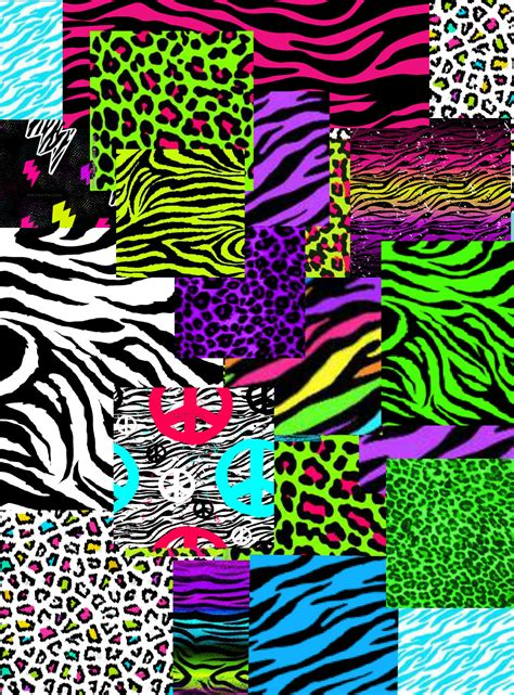 Neon Animal Print Wallpaper - neon animal wallpapers wallpapersafari