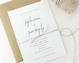 18 simple inexpensive wedding invitations the for Simple wedding invitations with pictures