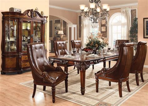 badcock formal dining room sets acme furniture winfred formal dining room collection by