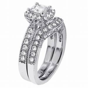 wedding rings sets women wedding promise diamond With princess cut wedding rings for women