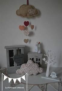 Dcoration Chambre Enfant Bb Fille Liberty Nuage Toile