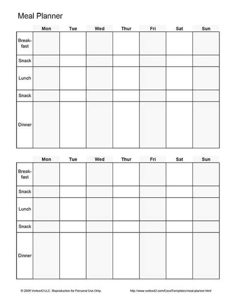 printable biweekly meal planner   vertex
