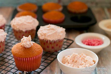 rose cupcakes  white chocolate ganache tantalise