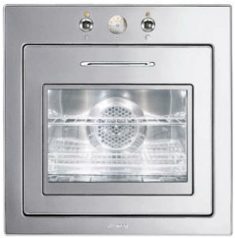 smeg fu  single electric wall oven stainless steel ebay