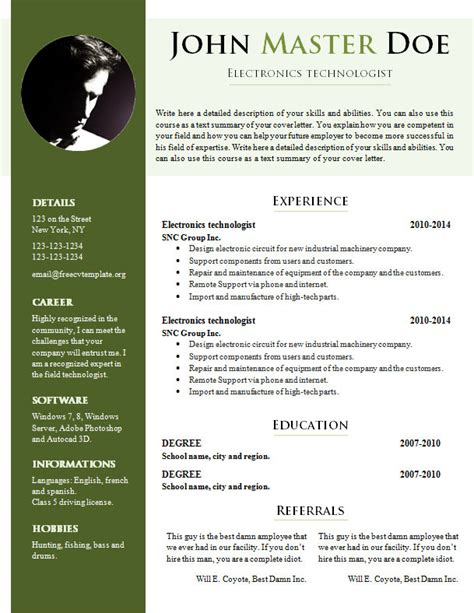 Curriculum Vitae Sles Word Document by Free Cv Template 681 687 Free Cv Template Dot Org