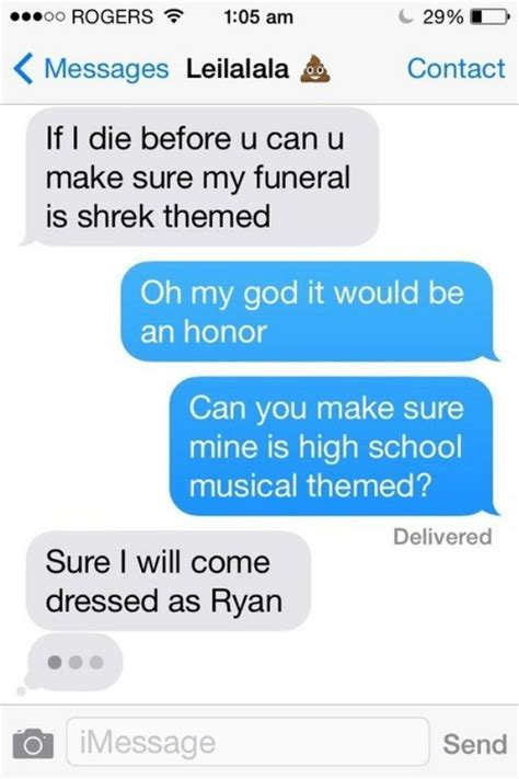 funny texts   friends     sending