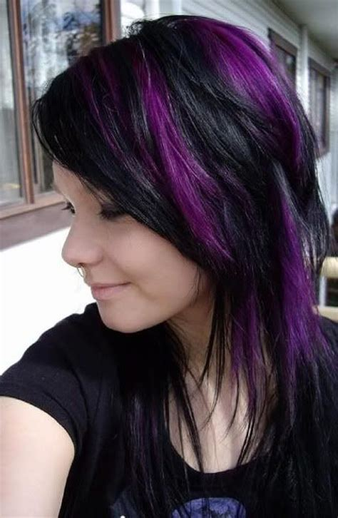 black and purple hairstyles a gorgeous combination the