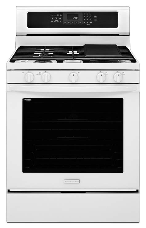 Kitchen Aid Gas Range by Kitchenaid Kgrs303bwh 5 8 Cu Ft Freestanding Gas