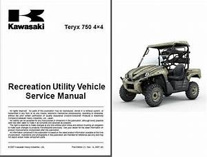 2008-2009 Kawasaki Teryx 750 4x4   Krf750   Utv Service Manual On A Cd For Sale