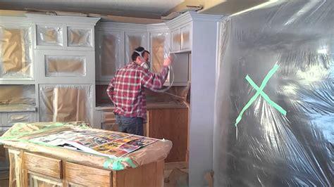 prep  spray kitchen cabinets youtube