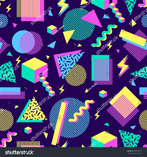Abstract Geometric Shapes Pattern by Vector Seamless Pattern Multicolor Geometric Shapes Stock